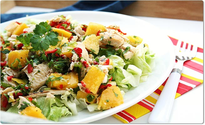 ... Week: Grilled Chicken Salad With Mango and Avocado | Online Health Mag